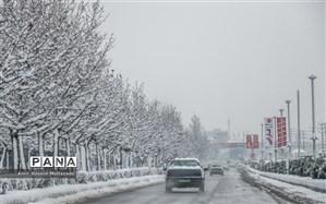 بارش برف و باران در اکثر محورهای مواصلاتی