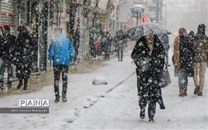 بارش شدید برف در پنج استان طی امروز