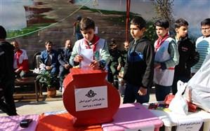 """برگزاری طرح """"دومین سیل مهربانی همکلاسی ها"""" در مدارس استان کهگیلویه  و بویراحمد"""