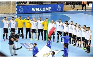 سلام نظامی ملی پوشان هندبال به پرچم ایران