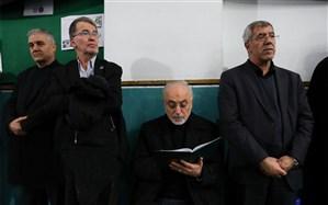 حضور صالحی در مراسم یادبود شهدای جانباختگان سانحه هواپیما