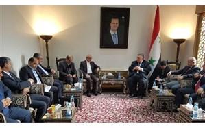 دیدار وزیر آموزش و پرورش ایران با رئیس مجلس سوریه