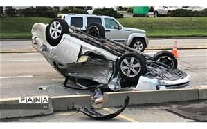 ۲ کشته و ۳ زخمی در حادثه واژگونی پژو ۲۰۶ در بزرگراه نیایش