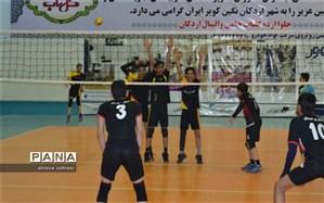 برگزاری مسابقات والیبال دانش آموزای دراردکان