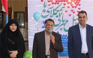 مراسم محوری پویش سیل مهربانی همکلاسی ها در زاهدان برگزار شد