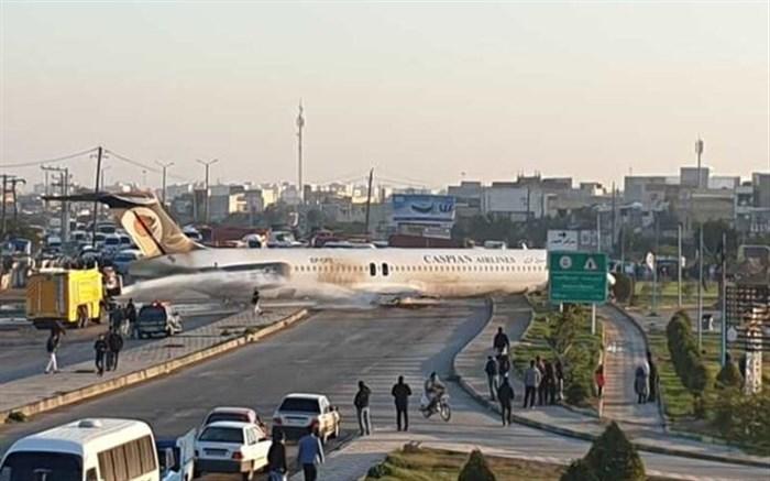 جزئیاتی از فرود اضطراری هواپیما در ماهشهر