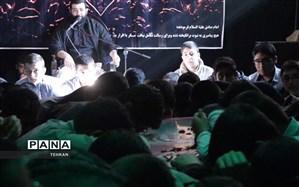 مراسم تشییع شهید گمنام در هنرستان فنی شهدا منطقه12
