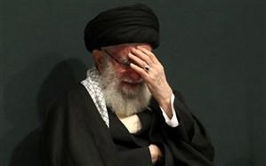اشکهای رهبر انقلاب برای شهید سلیمانی در روضه حضرت فاطمه