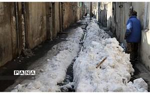 کوچههای یخ زده و خواب زمستانی شهرداری بروجرد