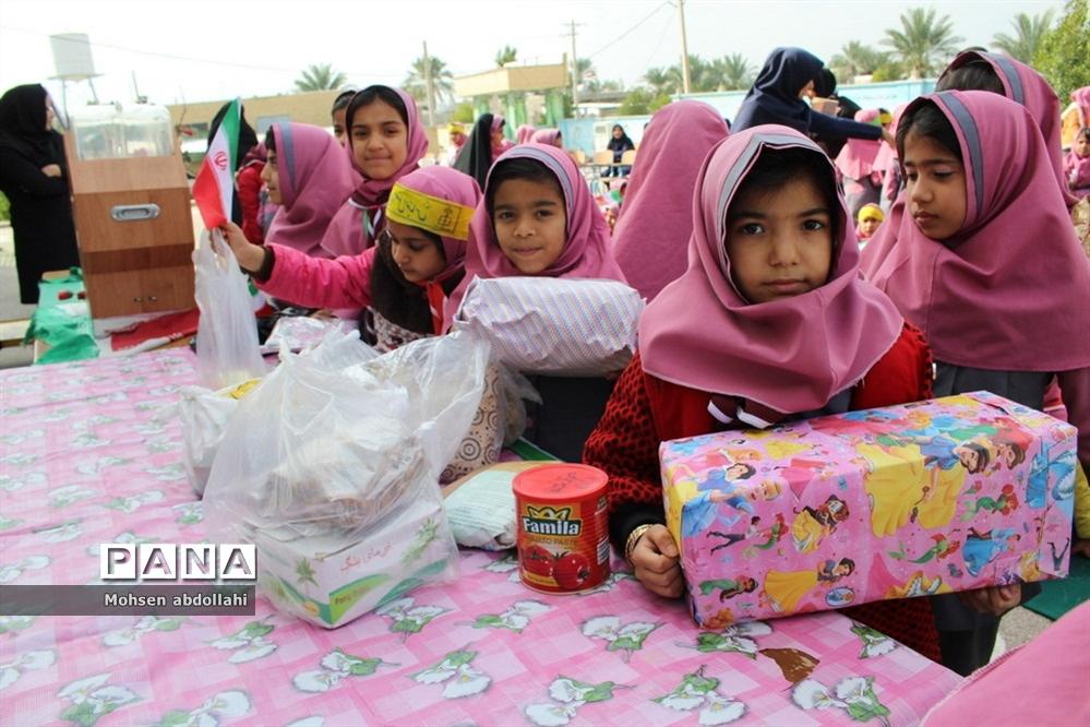 سیل مهربانی  در دبستان دخترانه شهید دانشگر سعدآباد