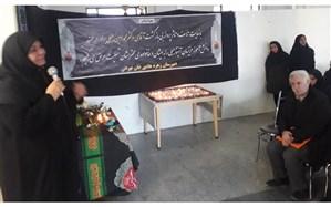 مراسم عزای یاس بی نشان و لاله های پرپر در دبیرستان  زهره هادی خان تهرانی منطقه 1