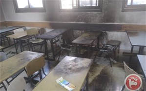 صهیونیستها یک مدرسه فلسطینی را آتش زدند +ویدئو