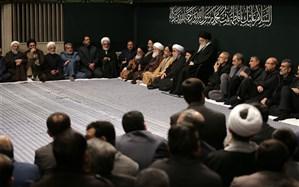 مراسم عزاداری شب شهادت حضرت فاطمهزهرا (س) با حضور رهبر انقلاب برگزار شد