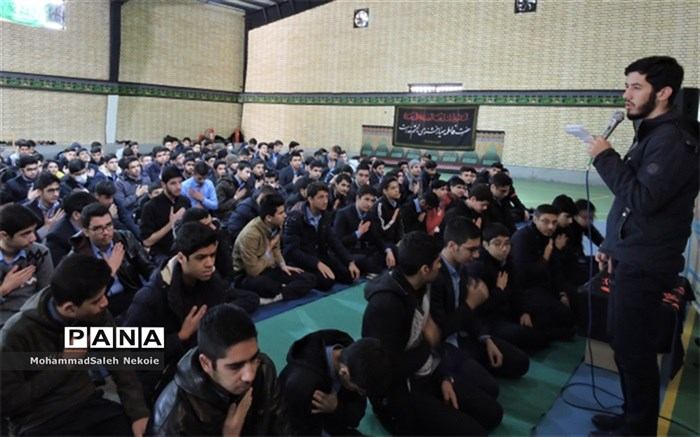 مراسم عزاداری دهه فاطمیه در دبیرستان نمونه دولتی آریو مصلی نژاد