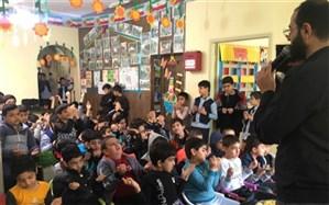 مراسم عزاداری حضرت فاطمهزهرا سلاماللهعلیها  در دبستان  پسرانه امام رضا (ع) بوشهر