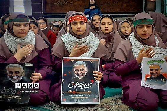 مراسم سوگواری ایام فاطمیه در مدارس چهاردانگه