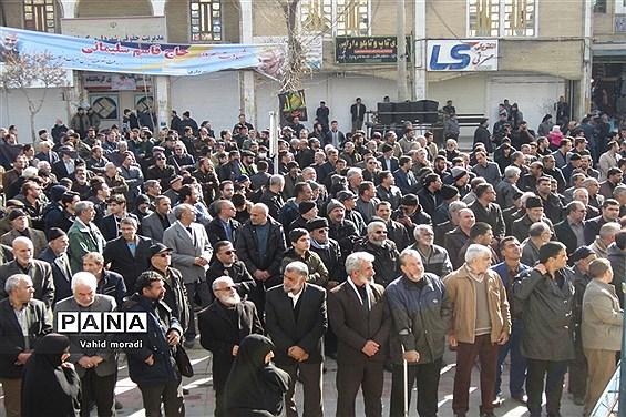 اجتماع بزرگ عزادارن فاطمی در کرمانشاه