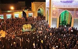 برگزاری مراسم  تشییع نمادین حضرت زهرا(س) در ورامین