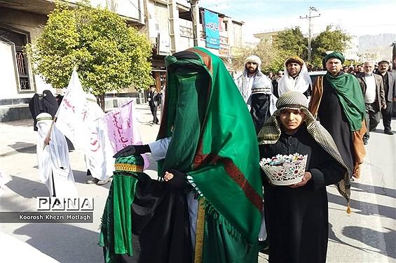 تشییع نمادین پیکرمطهر حضرت فاطمه (س) در شهرستان کازرون