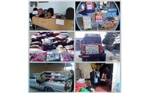 ارسال هدایای شهرستانهای خراسان رضوی از مرکز گناباد به سیل زدگان سیستان و بلوچستان