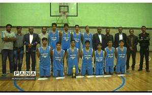 تیم بسکتبال ناحیه یک قهرمان سی و هفتمین دوره مسابقات قهرمانی مدارس استان شد