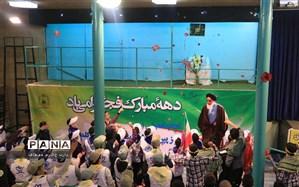 گلباران حسینیه جماران توسط  دانش آموزان  پیشتازمنطقه1
