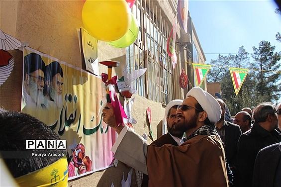 زنگ انقلاب به مناسبت ورود امام خمینی ره درشهرستان خوسف