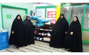 سیل مهربانی دانش آموزان منطقه یک با اهدای کفش