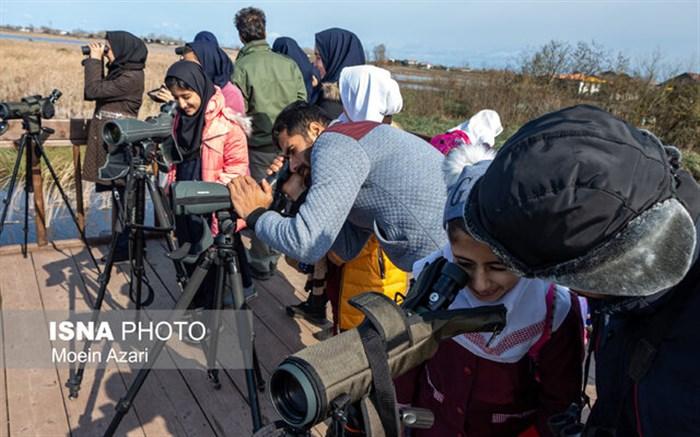 پرندهنگری دانشآموزان در تالاب بینالمللی امیرکلایه