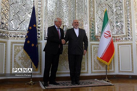 دیدار جوزف بورل هماهنگ کننده عالی سیاست خارجی اتحادیه اروپا با ظریف