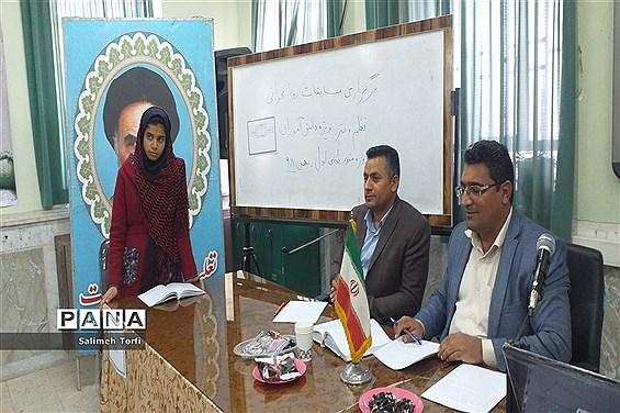 برگزاری مسابقه روانخوانی و مشاعره بین دانش آموزان متوسطه اول شهرستان حمیدیه