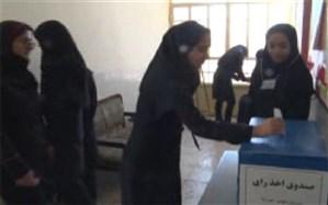 انتخابات نمادین در دبیرستان دخترانه اشکذر