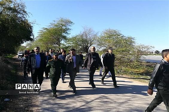 همایش پیاده روی فرهنگیان شهرستان حمیدیه