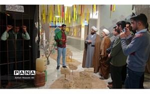 افتتاح نمایشگاه های مدرسه انقلاب درفاروج