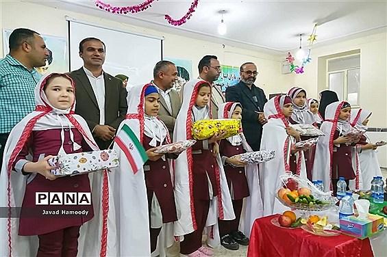 برگزاری جشن تکلیف دانش آموزان پایه سوم دبستان ام البنین شهرستان حمیدیه