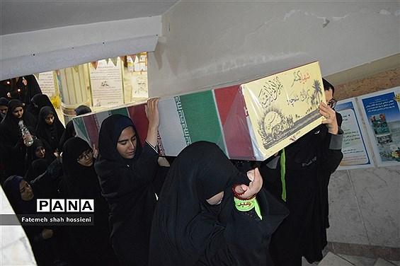 تشیع پیکر شهید گمنام در مراسم میهمانی لاله های روشن  فیروزکوه