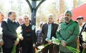 مراسم غبارروبی و عطر افشانی مزار شهدای انقلاب اسلامی باقر شهر