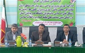 مدیرکل آموزش و پرورش سیستان و بلوچستان: فکر و نظر خلاق جوان مومن و انقلابی می تواند گره گشای امور باشد
