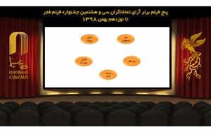 5 فیلم برتر آرای تماشاگران جشنواره فیلم فجر اعلام شدند