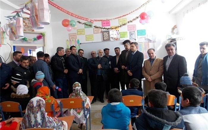 افتتاح مدرسه سه کلاسه خیر ساز روستای علیداشین شهرستان سرعین