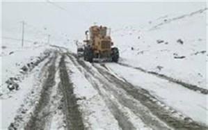 انجام عملیات برف روبی در ۳۸۰ کیلومتر از محورهای آذربایجان غربی