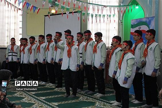 مراسم گرامیداشت پیروزی انقلاب اسلامی و چهلمین روز شهادت سردار سلیمانی با محوریت سازمان دانش آموزی
