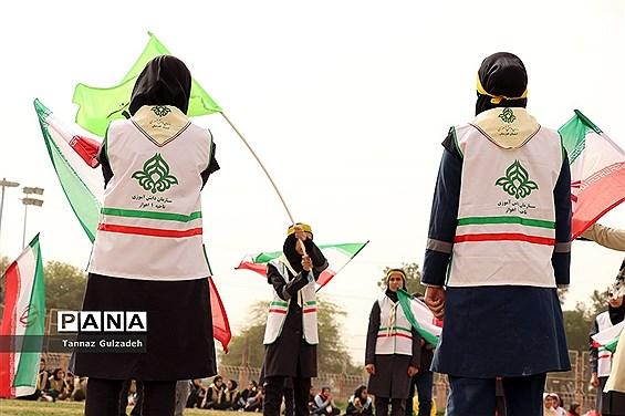 مانور2000نفری یاوران انقلاب نواحی 4گانه اهواز - یک