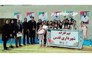 کسب مقام سوم تیم  کاراته نوجوانان بانوان شهرداری قدس