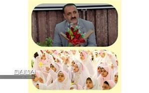 چادر نماز و بسته های فرهنگی به  دانش آموزان کلاتی که به سن تکلیف می رسند اهدا می شود