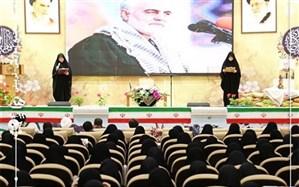 مراسم بزرگداشت دهه فجر و سردار شهید سلیمانی با حضور دانش آموزان دبیرستان هدی