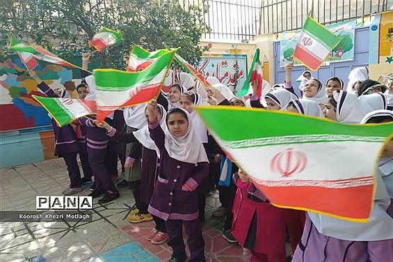 برگزاری جشنهای دهه فجر در مدارس کازرون