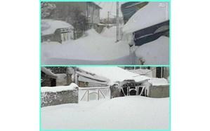 تصویر/ شهرستان خلخال زیر کوهی از برف