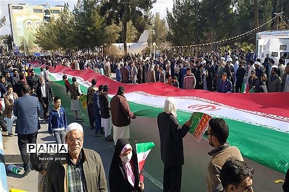 حضور پرشکوه مردم سیستان و بلوچستان درراهپیمایی 22 بهمن 98