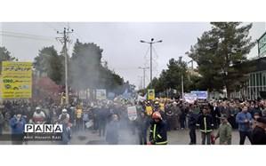 راهپیمایی 22 بهمن در درگز برگزار شد